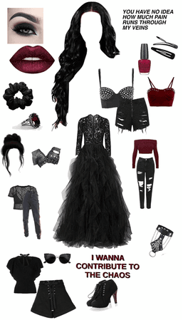 Raven (Princess of Demons)'s outfits
