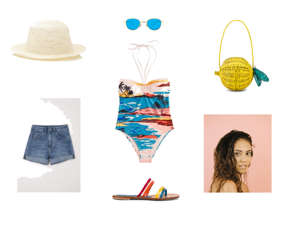 A tropical beach look inspired by the late 80s!