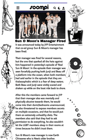 Sun & Moon Manager Fired News Article 2020. 09. 24