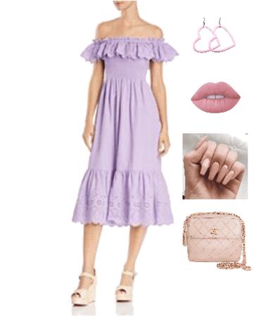 Outfit vestido lila