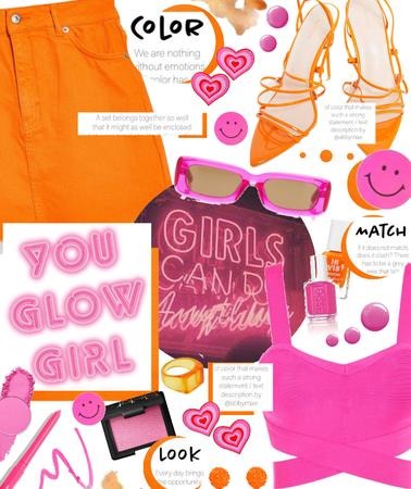 orange and pink 💗🧡