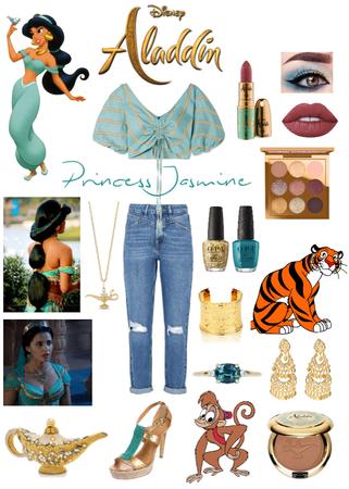 Aladdin~ Princess Jasmine👸🏽🐒🐅🧞♂️