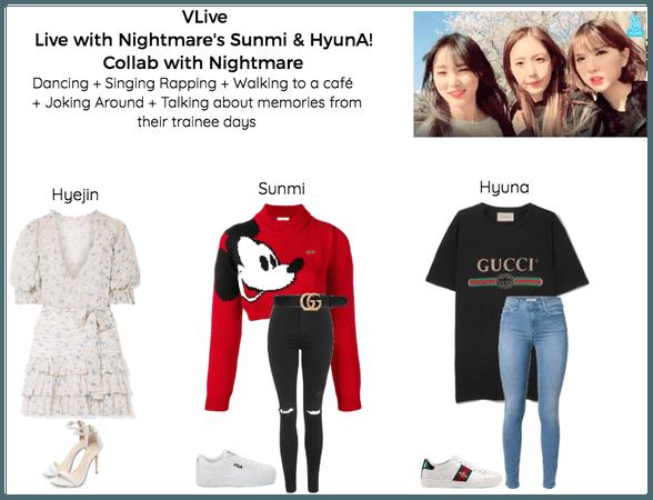 live with nightmare's sunmi & hyuna! | vlive