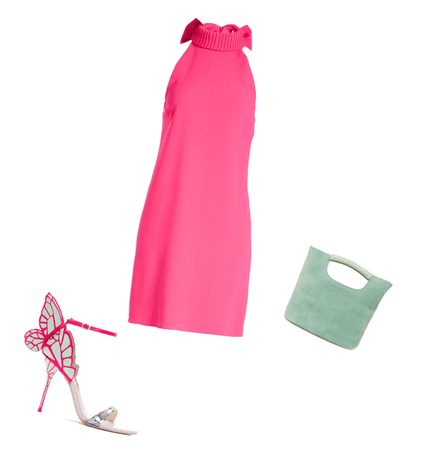 Hot pink and mint