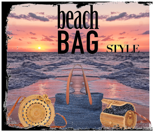 Beach Bag In Blue