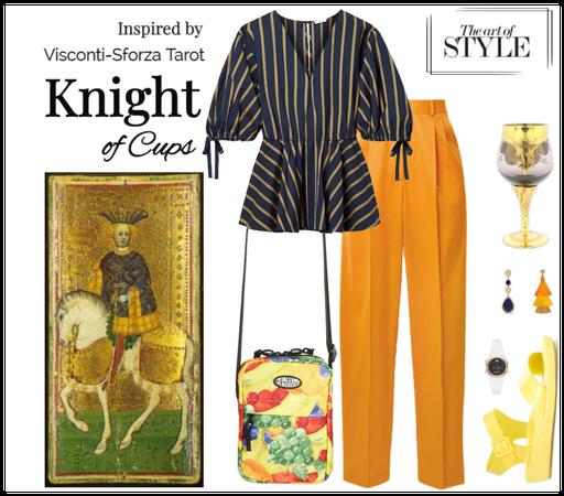 Inspired by Visconti-Sforza Tarot-Knight of Cups