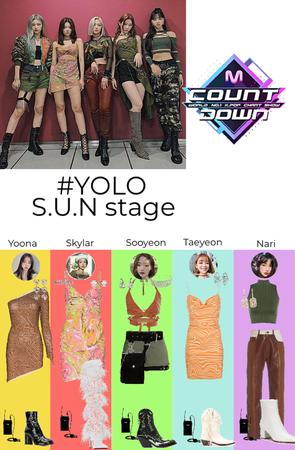 #YOLO S.U.N stage MCountdown