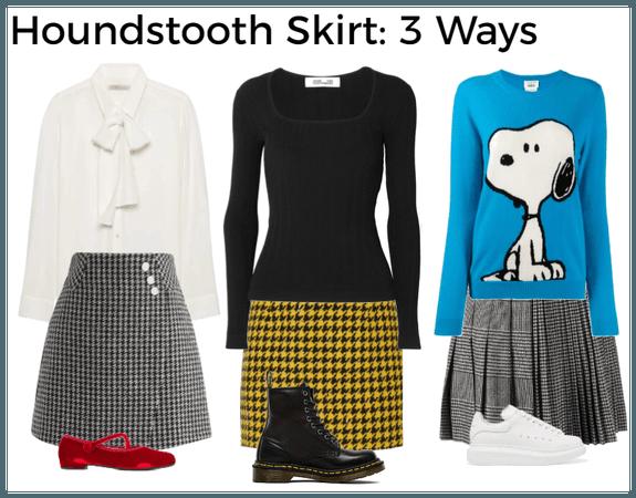 Houndstooth Skirt: 3 Ways