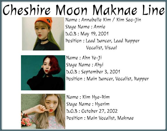 ☾heshire Moon Maknae Line
