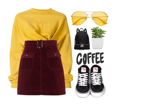 Yellow everyday outfit/♥♥♥