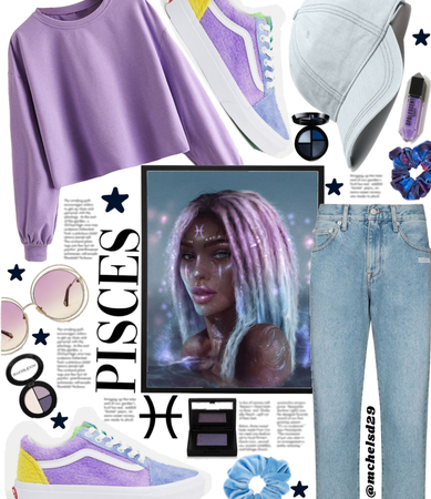 Pisces ♓️ Style in Purple and Blue