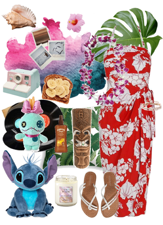 Lilo and Stitch Hawaiian Disney Bound
