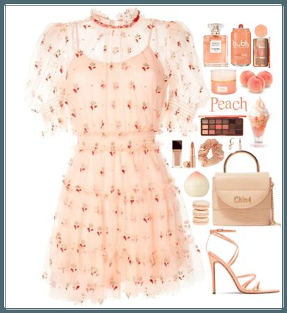 Peach Monochromatic Style