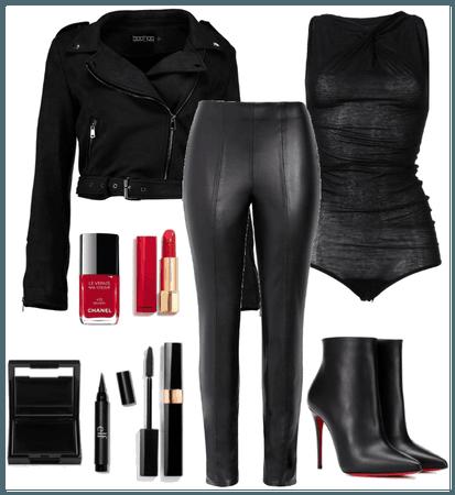 Julia in Black Leather