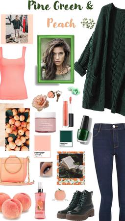 Pine Green & Peach