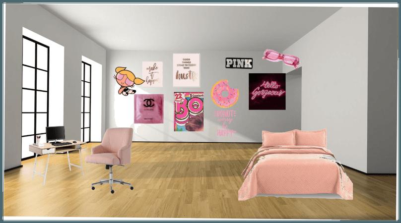 Pink Soft girl room