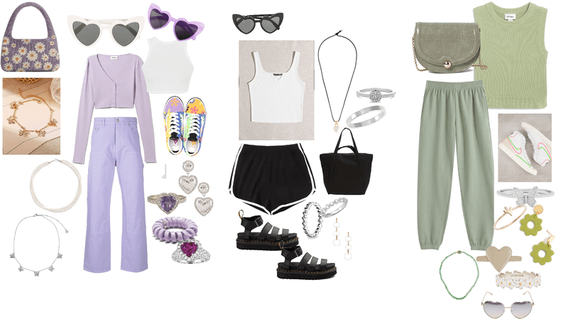 purple black and green
