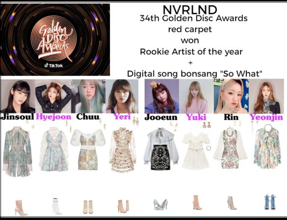 NVRLND 34th Golden Disc Awards red carpet