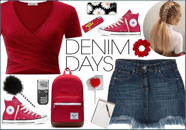 High School Throw-Back: Denim Skirts