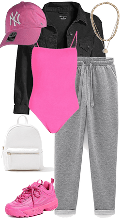 casual pops of pink
