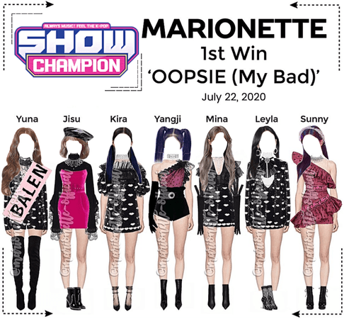 MARIONETTE (마리오네트) [SHOW CHAMPION] 'OOPSIE (My Bad) | 1st Win