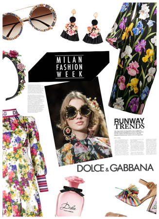 Milan Fashion Week/D&G Head 2 Toe