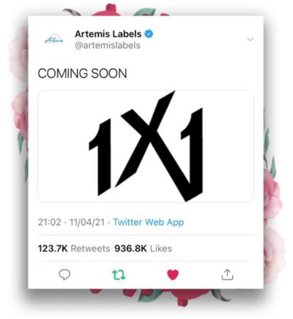 1X1 [원바이원] Twitter Post 210411