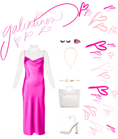 Galentines outfit - pink theme