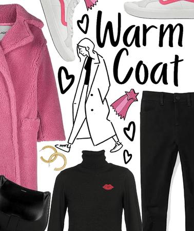 Pink cozy coat
