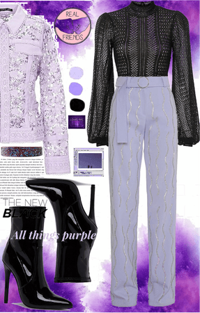 Purple X Black
