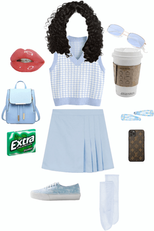 school outfit but blue theme for all the blue lovers