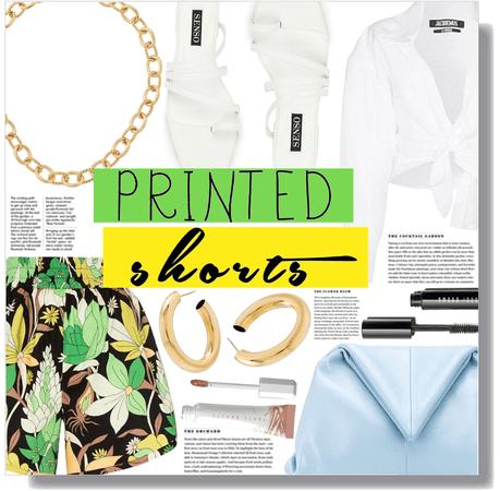 printed shorts 💛💚