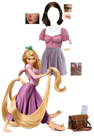 Modern Rapunzel inspired outfit