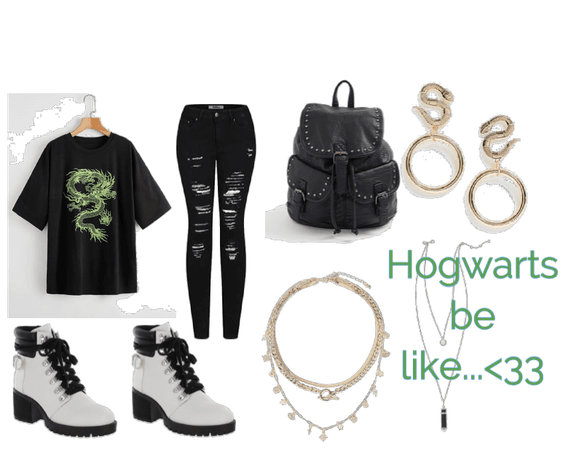 *Hogwarts house outfit*