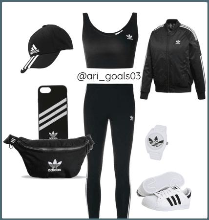 Black and White Adidas