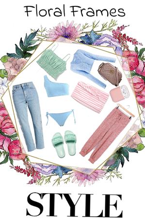 floral frames style🌺