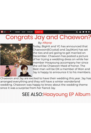 Chaewon and Jay news | October 8, 2020