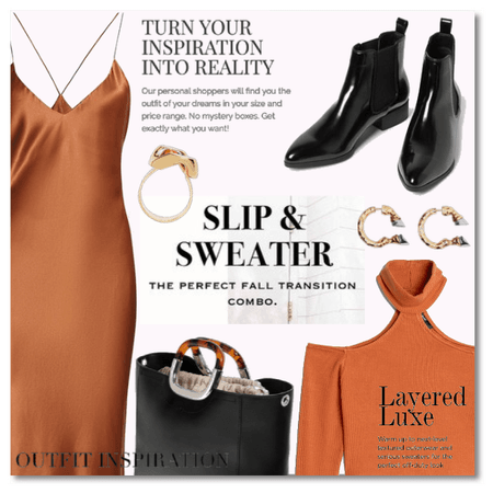 Outfit Inspiration: Slip & Sweater