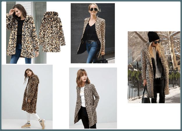 low cost leopard coat