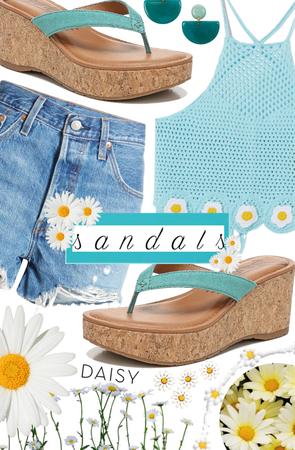 Sandals + Daises