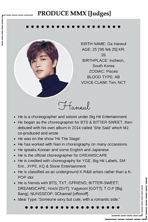 Produce MMX Judges: Haneul