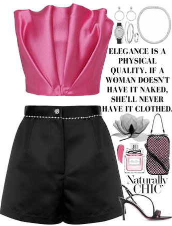 Pink & Black fancy outfit with diamonds