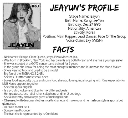 """Get To Know BGU """"Jeayun"""""""