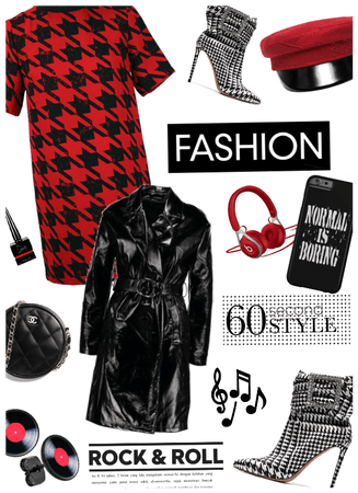 Rock n roll fashion/trench coat