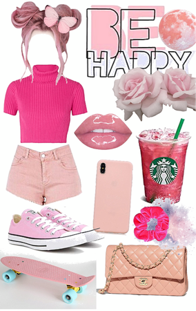 the pink outfit