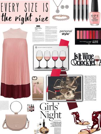 Plus size look/girls wine nite