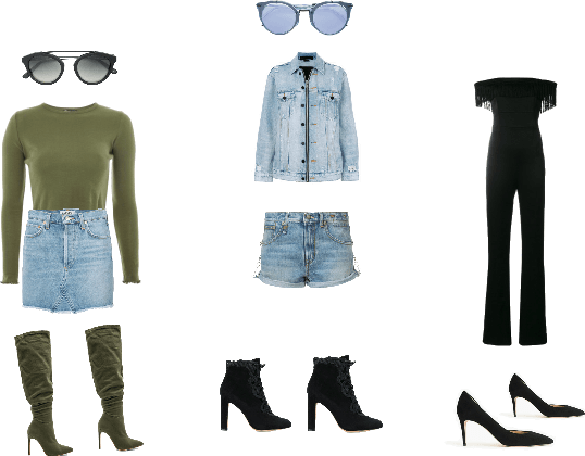 3 different outfits to rock out your night