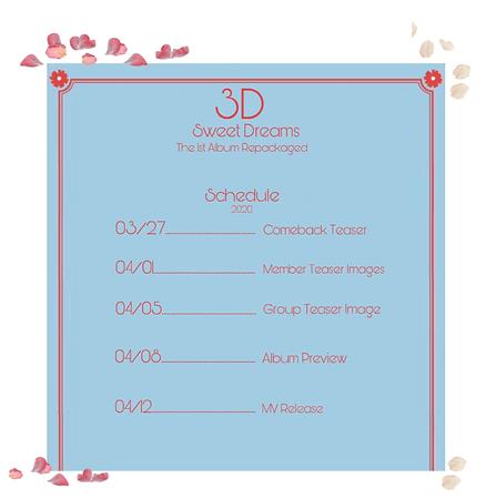 {3D}'Sweet Dreams' Album Comeback Schedule