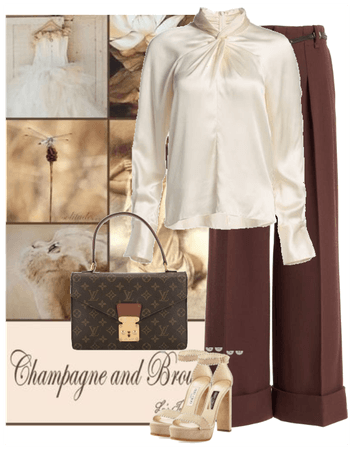 champagne and brown