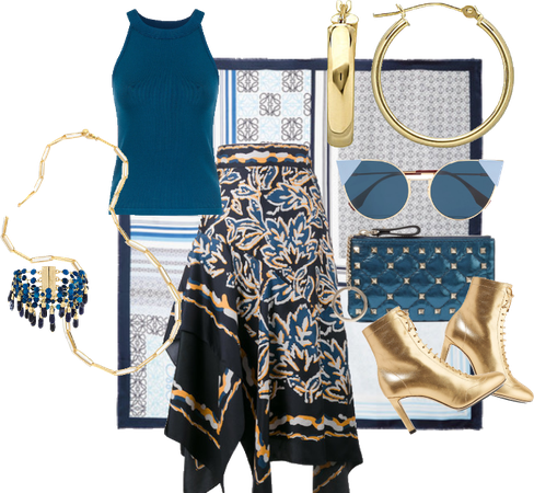 Teal and gold Festival